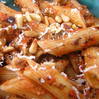 Spicy Roasted Eggplant Penne