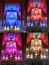 Photo: Color-changing buddha and friends