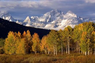 Photo: Teton Range in fall colors, Grand Teton National Park