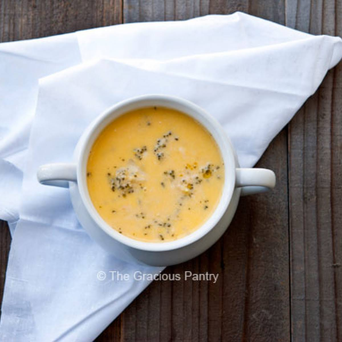 Clean Eating Broccoli Cheddar Soup