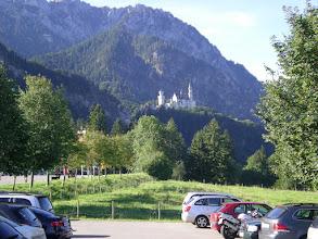 Photo: première vue sur Neuschwanstein