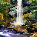 3D Autumn Waterfall Wallpaper icon