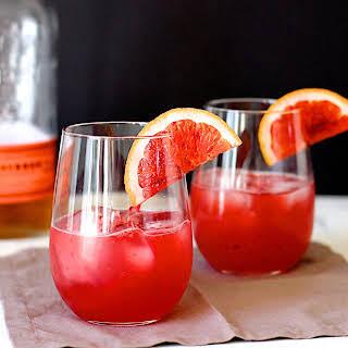 Blood Orange Bourbon Sour.