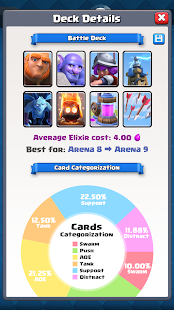 Deck Advisor for CR Screenshots