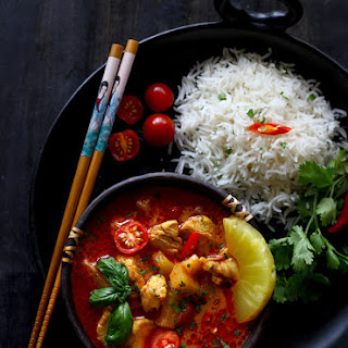 Thai Pineapple Chicken Curry.