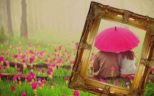 Rain Picture Photo Frame