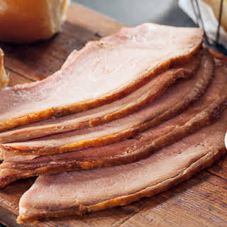 Slow Cooker Sliced Ham with Apple Butter and Cider.