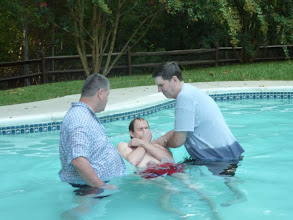 Photo: One of my greatest thrills is baptizing new believers.