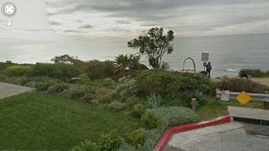 Photo: From a google image. I don't know for sure if my spot is private property - I think it's just beyond the property line of this home - but it seems to be a popular dog-walking trail with the locals. As long as I've been going there, people just sort of cheerfully consider it to be public property whether it is or not.