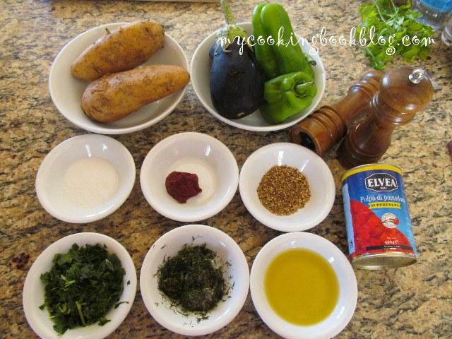 Яхния с патладжани, картофи и чушки (Patlican bastisi)