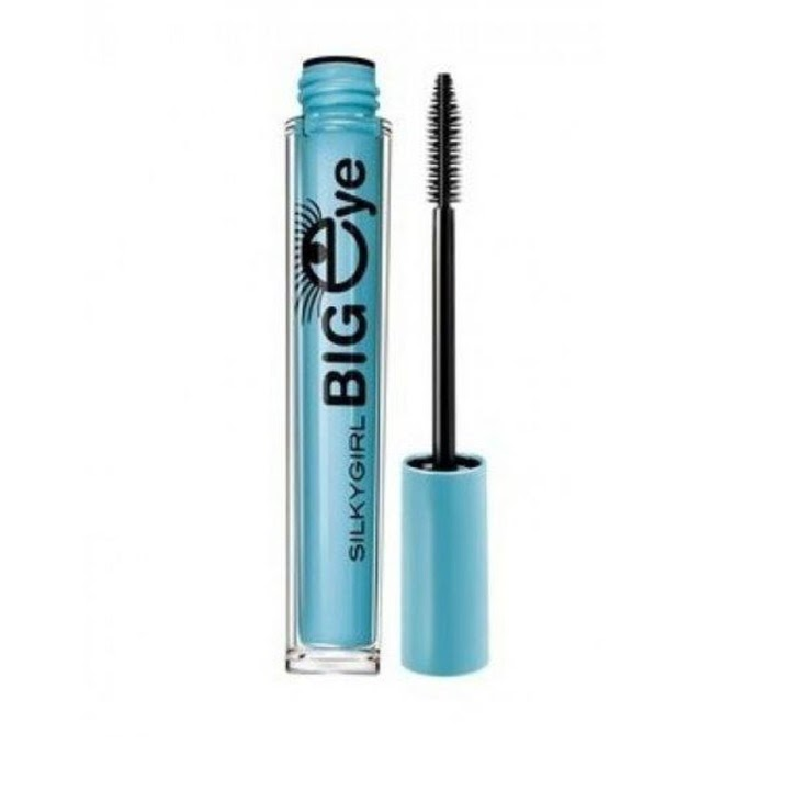 Big Eye Collagen Waterproof Mascara Black SILKYGIRL maskara hitam kemasan biru tahan lama anti air menebalkan bulu mata