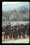Papua. Tribes Baliem Valley Time Travel. Gathering of Papuan men.