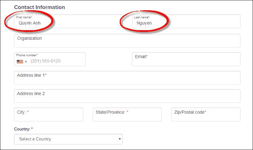 Cách điền first name vào thông tin cá nhân chính xác nhất