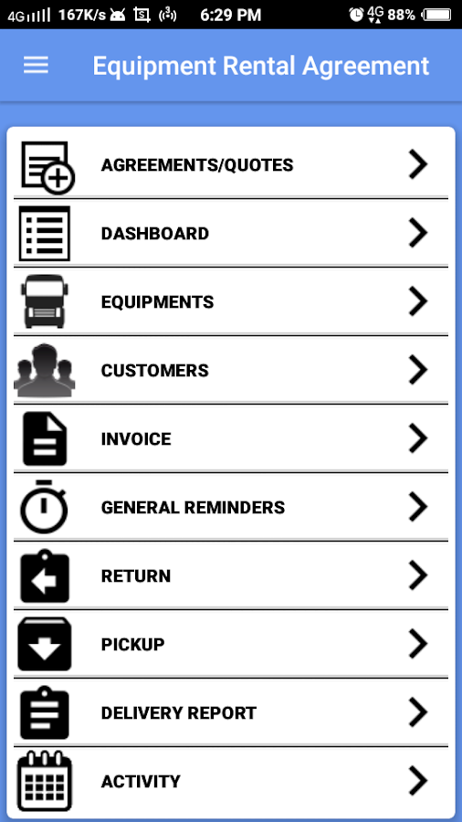 Equipment Rental Management Android Apps on Google Play – Tool Rental Agreement