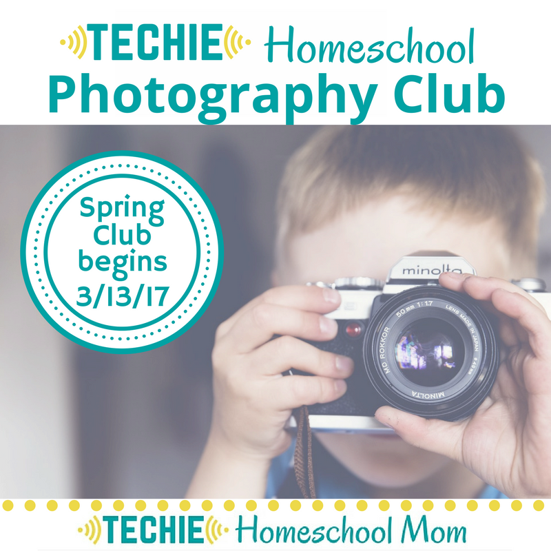 Join the Techie Homeschool Photography Club free from March 1-5.
