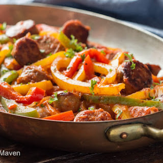 Italian Sausage, Peppers and Onions with Sauce Recipe
