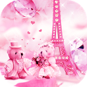 Teddy bear love theme in Paris icon