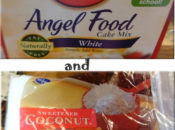 You will need a box of angel food cake mix and a bag of...