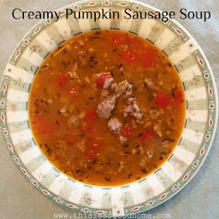 Creamy Pumpkin Sausage Soup.