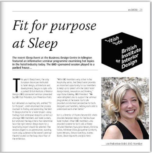 In the Press: Park Grove Design seminar featured in In.Design Magazine