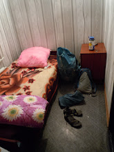 Photo: 15 dollars gets you this room, with no showers and an outhouse across the parking lot.