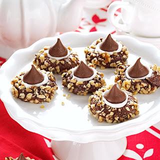 Chocolate Thumbprints Cookies.