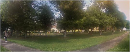 Photo: Turda - Calea Victoriei, Mr. 1 - parc si spatiu verde, vedere scoala - 2019.07.15