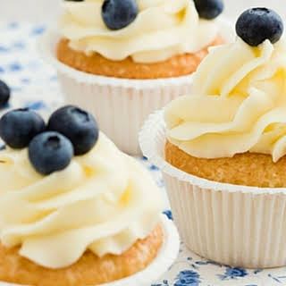 Buttermilk Cupcakes with Cream Cheese Frosting.