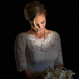 7/28/18 by Bryce Blood - Wedding Bride ( bride, dress, flowers, wedding, portrait )