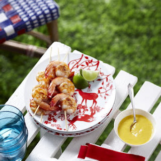 Grilled Shrimp with Mango Sauce.