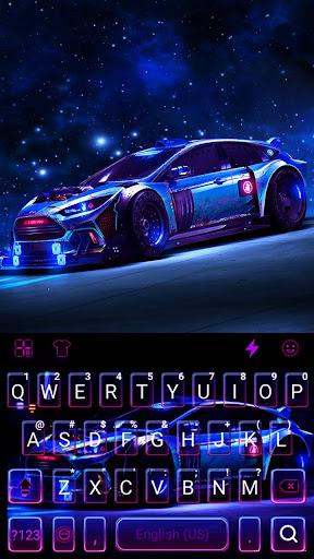 Racing Sports Car Keyboard Theme screenshots 5