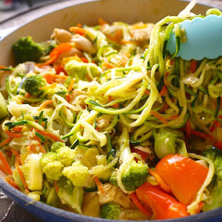 Paleo Zoodle Chicken Stir Fry (GF) Recipe