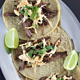 Slow Cooker Korean Brisket Tacos