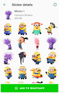 New Funny Cartoons Stickers packs for WhatsApp WA