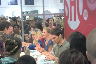 Photo: Floor - cast of Criminal Minds signing autographs