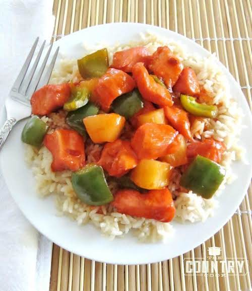"Baked Sweet & Sour Chicken ""This is a super simple recipe that..."