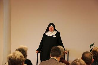 Photo: Sr. Veronika fortalte om sit liv og hvad det vil sige at være nonne i et Benediktinerkloster.