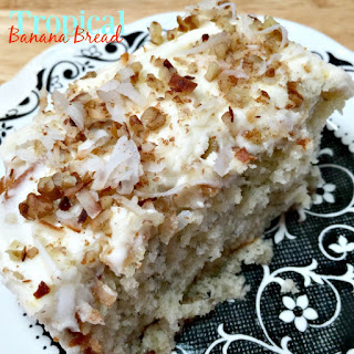 Tropical Banana Bread with Cream Cheese Frosting