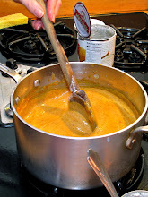 Photo: red curry sauce is almost ready