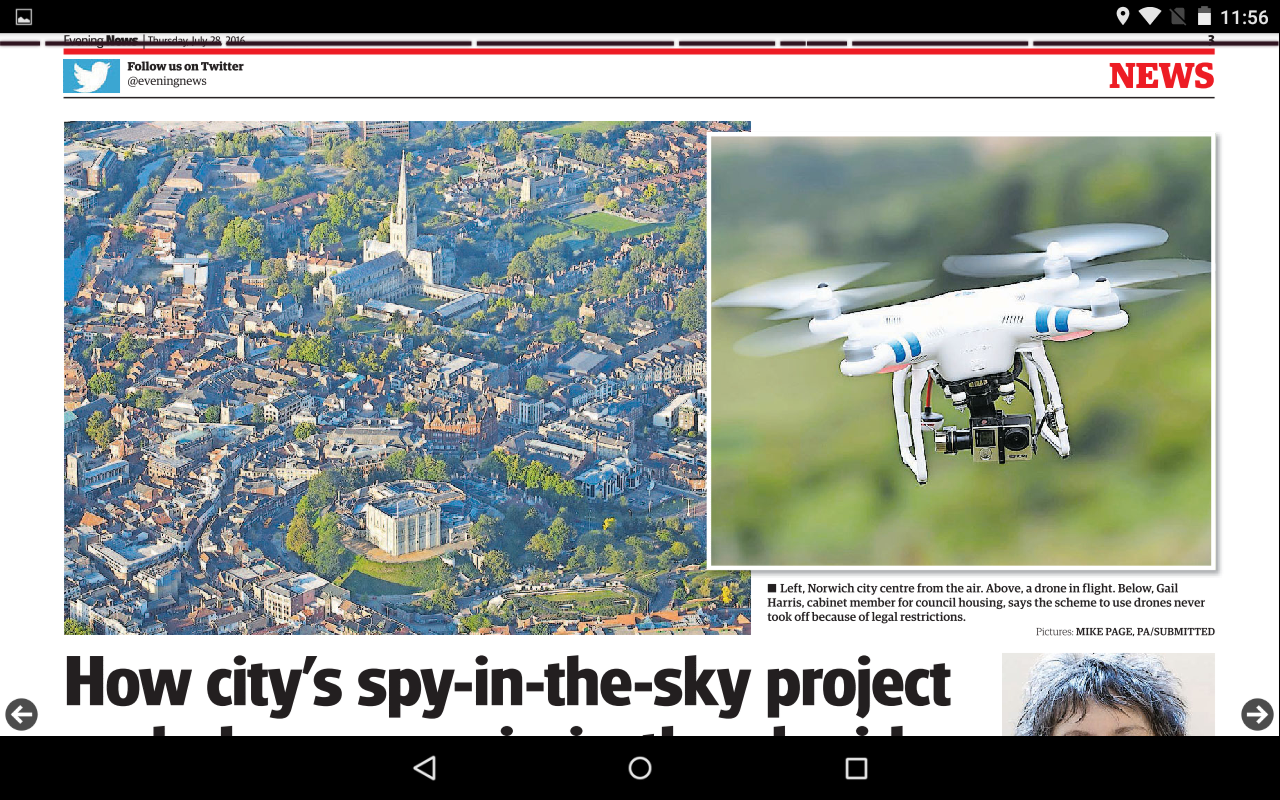 Norwich Evening News- screenshot