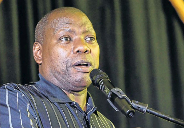 Minister Zweli Mkhize speaks in Kirkwood yesterday