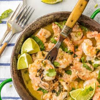 One Pot Cilantro Lime Shrimp Scampi.