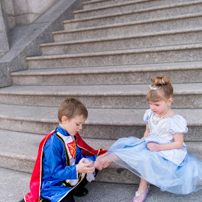 The Glass Slipper by Amber Welch - Babies & Children Children Candids ( fantasy, glass slipper, storybook, children, prince charming, cinderella, fairytale )