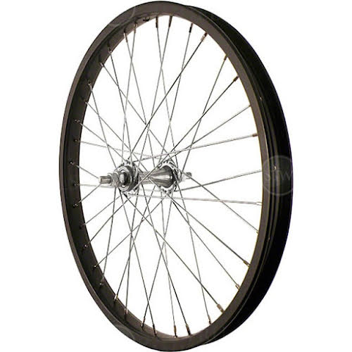 Sta-Tru Front Wheel 20 inch Black Steel Rim with Solid Thread on Axle