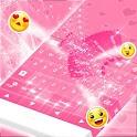 Pink Keyboard Hearts GO icon