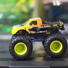 Monster Jam by Timmothy Tjandra - Artistic Objects Toys ( car, toy, monster, cars, boys, toys, big, bokeh, boy )