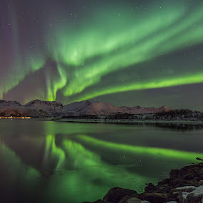 Aurora painting by Benny Høynes - Landscapes Starscapes ( northern lights, aurora borealis, lightpainting, canon eos, norway,  )