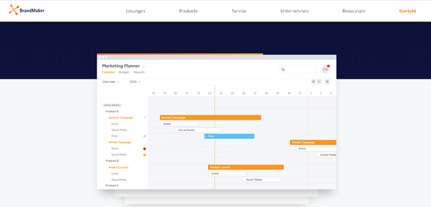 brandmaker Marketing-Ressourcen-Management-System