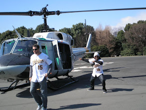 Photo: US Air Force chopper! And about to head to the US Air Force base to meet troops and do a clinic with kids. #Blessed