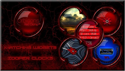 Clamp Red HD Orbicons Icons screenshot 3